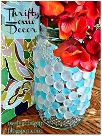 twelveOeight: DIY Home Decor On A Budget: Chic Glass Vase