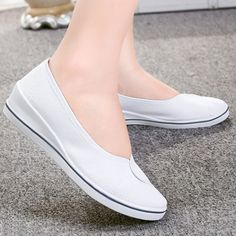 Carolina Women's Loafer Shoes   Ultrasellershoes.com – Ultra Seller Shoes Cute Shoes Flats, Lace Up Flats, Clogs Shoes, Loafer Shoes, Wedge Shoes, Women's Flats, White High Heels, Pointed Toe Flats, Loafers For Women