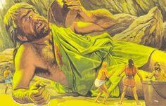 In seguito Odisseo e compagni giungono  nella terra dei Ciclopi, figli di Poseidone, giganti con un solo occhio e dai comportamenti rudi e violenti. L'eroe, cercando ospitalità e riposo, si imbatte in Polifemo che, dopo aver fatto strage di molti dei compagni di Odisseo, viene da lui accecato con l'inganno. I guerrieri riescono a sfuggire all'ira del ciclope nascondendosi sotto al ventre delle capre.
