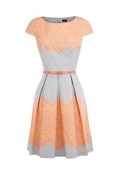 Fashion Wishlist: Peach and grey dress from Oasis
