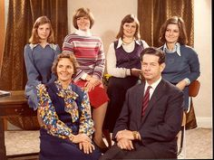 carolathhabsburg:  King Michael of Romania and family in the Late 1970s.  back Princesses Maria, Elena, Sophie, Margarita.  front Queen Anne and King Michael