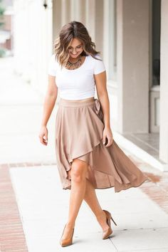 With billowing fabric and a trendy stylish cut the Chasing Waterfalls Skirt in…