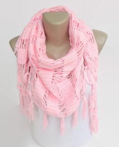 soft pink crochet scarf ,shawl ,cotton women scarf ,scarves ,bridemaids gift , soft scarves on Etsy, $35.00