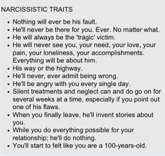 being married to a narcissistic woman