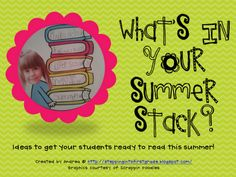 Miss Kindergarten: Summer- I like this idea for helping parents see what their child is interested in.  Might be a decent idea for each month of the year.  Even if it doesn't promote buying, you can see for yourself what might be good to add to your own class library.