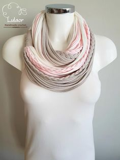 T shirt scarf t shirt infinity scarf circle scarf fabric by Lulaor