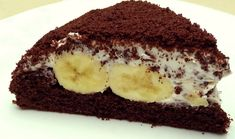 Cake with Banana and Chocolate ! Cakes To Make, How To Make Cake, Sponge Cake Recipes, Easy Cake Recipes, Turkish Recipes, Ethnic Recipes, How To Make Chocolate, Chocolate Cake, Custard Recipes