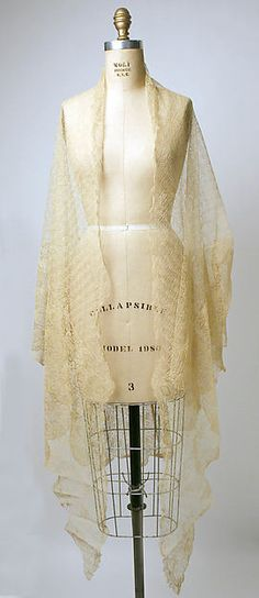 Shawl Date: 19th century Culture: Philippine Medium: piña cloth, silk