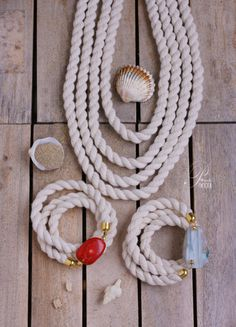 Nautical rope necklace/ bracelet