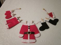 Santa Claus's Clothesline by CurlytoeCreations on Etsy, $22.00