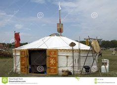 Ancient Hungarian tent in Kiskunsag National Park.