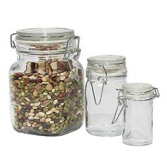 50 oz Clear Glass Bale Wire Bale Jars (Air-Seal Lid), sold in 12/case quantity $25.06