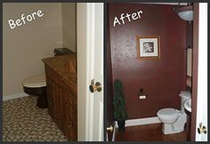 Rehab property; powder room