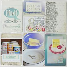 Megan's page on the crate paper blog. Like the Pinterest card and the confetti envelope