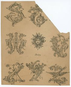 Collection of designs for letters and monograms, by J.M. Bergling.