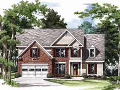 Eplans New American House Plan - Fresh Face on an Old Favorite - 1509 Square Feet and 3 Bedrooms(s) from Eplans - House Plan Code HWEPL09365