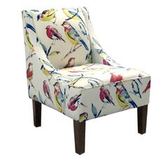 Skyline Furniture Upholstered Swoop Fabric Arm Chair