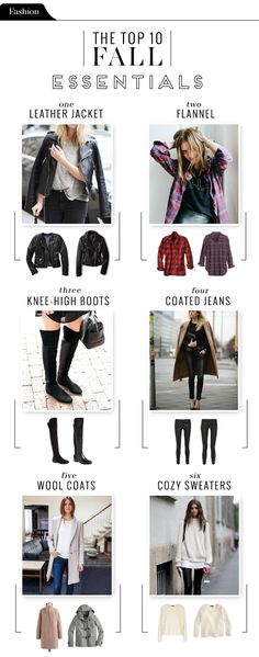 These are what I consider the top 10 wardrobe essentials for Fall. Paired with…