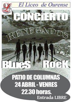 Renegados en Liceo de Ourense, Ourense concerto concierto music música