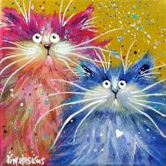 Kim Haskins Online Shop. cat paintings by kim haskins