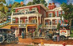 Fannie Maes General Store Jigsaw Puzzle 1000 Piece Tom Antonishak SunsOut NEW in Toys & Hobbies, Puzzles, Puzzle 1000, Puzzle Art, Old General Stores, Sunsout Puzzles, Detailed Paintings, Fannie Mae, Toys Shop, The Good Old Days, 1000 Piece Jigsaw Puzzles