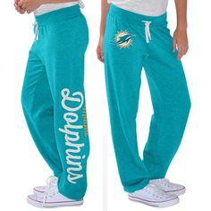 G-III 4Her by Carl Banks Miami Dolphins Women's Aqua Scrimmage Fleece Pants