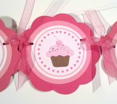 Cupcake Themed Birthday Party Sign I am 1 by getthepartystarted. $10.00 USD, via Etsy.