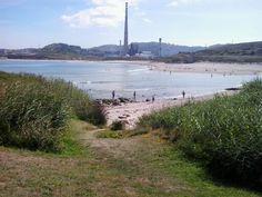 Vistas das praias de O Rañal e Sabón o fondo.