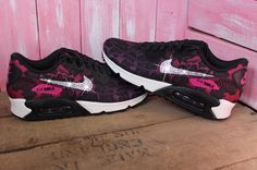 new arrival 9ff34 72f9f Cheap UK Nike Air Max 90 Jacquard Customized With Swarovski Crystal Mens    Womens Trainers