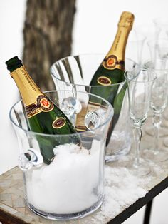 Don't throw away sparkling wine or champagne that's gone flat. Restore the bubbles by dropping a raisin or two into the bottle. The natural sugars will work magic.   - CountryLiving.com