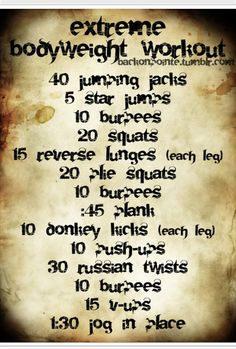 Back On Point Workout! 3 - 5 times through