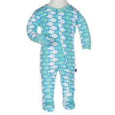 Amazon.com: KicKee Pants Little Baby Girls' Footie: Infant And Toddler Bodysuit Footies: Clothing