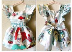 First Birthday Outfit Little Mermaid Ariel Disney Dress Pinafore by HausofHalo on Etsy https://www.etsy.com/listing/251578701/first-birthday-little-mermaid-ariel