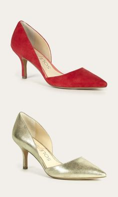 The best selling d'Orsay mid heel with a pointed toe and ultra-walkable heel. The epitome of office-to-out.