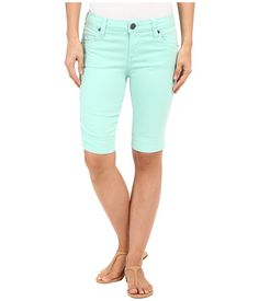 I do hate shorts. but I'd be willing to try a pair of bermudas, especially since I have mint skinny jeans from this brand that I love! KUT from the Kloth Natalie Bermuda Shorts in Mint Modest Shorts, Long Shorts, Modest Dresses, Women's Shorts, Mint Skinny Jeans, Sport Outfits, Cute Outfits, Mint Green Shorts, Future Clothes