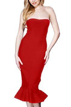 8ea47cd17109 2016 Summer Sexy Women Strapless Bandage Women Dress Vestidos Red ...