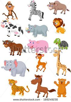 Find Wild Animal Cartoon Collection stock images in HD and millions of other royalty-free stock photos, illustrations and vectors in the Shutterstock collection. Jungle Animals, Baby Animals, Cute Animals, Wild Animals, Animals Images, Animal Pictures, Photo Images, Graphic Illustration, Dog Cat