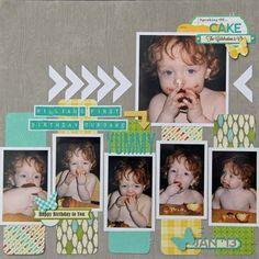Kim Holmes-Cupcake layout via Jillibean Soup Blog