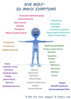 Symptoms of Multiple Sclerosis vary widely - and can change minute to minute!