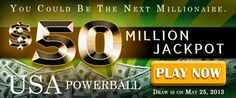 USA Powerball Rollover: US$ 50M on May 25
