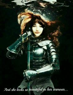 Kate Bush as Joan of Ark Pop Punk, Pop Music Artists, Hair Health And Beauty, Sword In The Stone, Women Of Rock, Female Knight, Music Images, Paramore, Halloween Cosplay