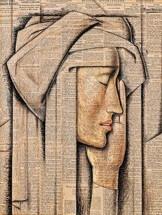 Ramos Martinez, Alfredo (1871-1946) - 1934 Head of a Nun by RasMarley, via Flickr