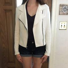 White Moto Jacket White Moto style jacket Express Jackets & Coats