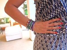 Isis de LA TRAFICANTE DE ZAPATOS luciendo varias de nuestras pulseras con glamour y elegancia, consíguelas en: www.marbcnshop.com