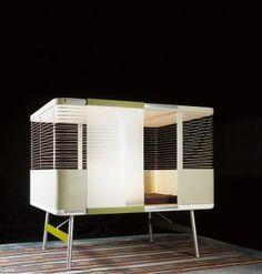 Interior design, decoration, loft, furniture, Lit Clos by Ronan & Erwan Bouroullec Design