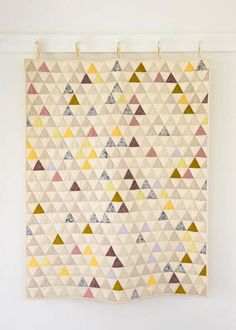 Little Peaks Quilt Tutorial | Calling advanced quilters! This modern quilt project is perfect for you!