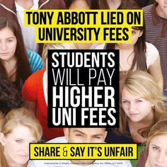 Abbott Gvt just made university education harder to attain for Australian kids #auspol @The Australian Labor Party @KateEllisMP pic.twitter.com/IYsjWhnOcs