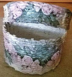 To i tamto...: Koszyczki z wikliny papierowej