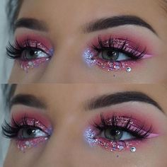When it comes to eye make-up you need to think and then apply because eyes talk louder than words. The type of make-up that you apply on your eyes can talk loud about the type of person you really are. Makeup Goals, Makeup Inspo, Makeup Trends, Makeup Inspiration, Makeup Ideas, Makeup Designs, Rave Makeup, Pink Makeup, Beauty Makeup