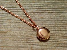 Mini Round Locket Tiniest Rose Gold Round Locket by LoveLockets